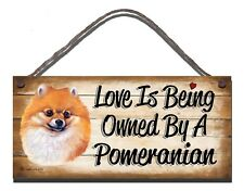 WOODEN SIGN POMERANIAN  PET LOVER  GIFT PRESENT