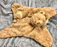 BABY GUND CUDDLY PALS Lovey Security Blanket - Yellow Plush Teddy Bear