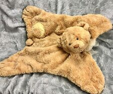 BABY GUND CUDDLY PALS Lovey Security Blanket - Yellow Plush Teddy Bear