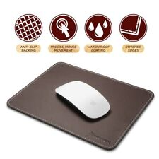 Insten Premium New Leather Mouse Pad with Waterproof Coating, Non Slip & Elegant