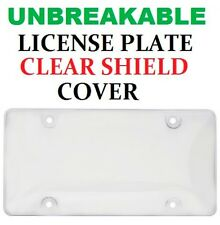 Universal Clear UNBREAKABLE License Plate Shield Cover New