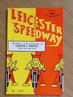 Leicester V Sheffield Speedway Programme 17/07/74