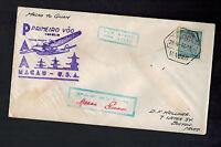1937 Macau First Flight Cover FFC to Guam USA Trans pacific Clipper