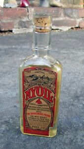 Early Full NYOIL LARGE SIZE 6+1/2 inch tall Bottle SPERM WHALE OIL UNOPENED!