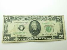 Old Paper Money 1950A Twenty $20 Dollar **STAR NOTE** Bill Federal Reserve Note
