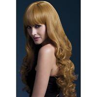 Women's Fever Isabelle Auburn Long Straight Professional Model Wig Fancy Dress