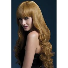 Women's Fever Isabelle Auburn Long Straight Professional Model Wig Fancy Dress