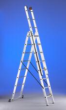 Scala Professionale Rinforzata in Alluminio 3 Tronchi di Salita 8 gradini SVELT.