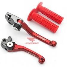 For Honda CRF250RX CRF450RX CRF150 CRF230 CNC Pivot Brake Clutch Lever Grip Logo