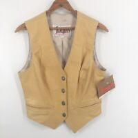 Diamond Leathers El Paso USA Womens Vest Western Lined Button Front 6 New