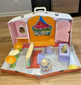 RARE Vintage Mattel 1958 Barbie Deluxe Family House Carrying Case Storage