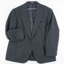HAGGAR Vtg 80s 90s Gray Dacron Wool Blazer Sport Coat Suit Jacket Men's 44S