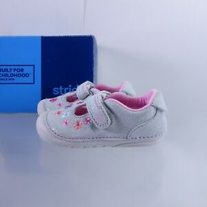 Size 6 WIDE Toddler's Stride Rite SM Tonia Sneakers BG60369 Silver