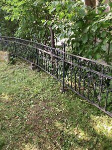 Schmiedeeisen Gartenzaun antik Geländer massiv Zaun Rankgitter