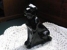 Labradore (Sitting) Black Glass - Mosser Glass USA