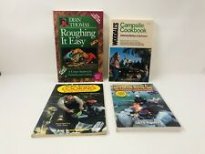 Lot of 4 Outdoor Cooking Books ~ Campers Guide Campsite Roughing It Basic Cook