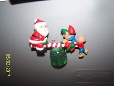 Santa & Elves on a SeaSaw Ornament MINT in Orig Box Date