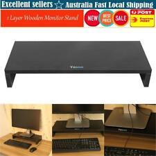 1 Layer Wooden LCD Computer Monitor Stand Riser Desktop Display Bracket Black