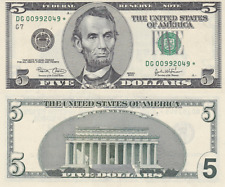 {BJSTAMPS}  2003 A $5 UNCUT Sheet of 4 Federal Reserve Notes SAN FRANCISCO Bank