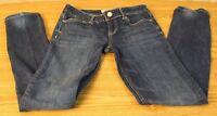 """Aeropostale Size 1/2 Skinny Denim Blue Jeans Stretch """"Bayla"""" Jeans"""