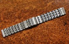20mm Edelstahl Uhrenarmband in Silber gebürstet satiniert mit Faltschliesse Neu