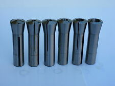 "6pcs/set  R8 Round Collets, 1/8"" - 3/4"" by 1/8"",  Brand New."