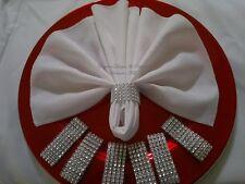 150 Diamond Rhinestone Bling Napkin Rings 5 Row - Wedding, Birthday, Baby Shower