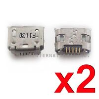 2X Alcatel A30 9024W 9024 USB Charger Charging Port Micro Dock Connector USA