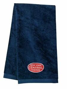 New York Central Red Logo Embroidered Hand Towel 100% USA cotton terry velour