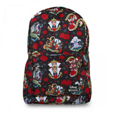 LOUNGEFLY DISNEY VILLAINS TATTOO PRINT SCHOOL BAG BACKPACK