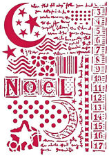 Stamperia Stencil A4 Moon Star & Writings   NEW   Noel Christmas