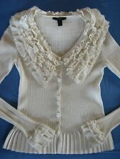 LOUIS VUITTON!!** Stunning Cardigan with Wide Ruffle Collar!! S