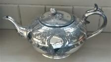Fine Antique James Dixon Silver Plated Squat Teapot with Bud Finial C 1860+