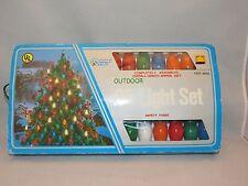 Vintage Christmas Time Outdoor Lights Box Of  25 Multi-Color C9 Bulbs - NEW