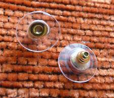 20pcs Hypoallergenic Earring Backs for Heavy Earrings Stoppers Plastic Disc Gold