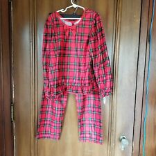 NEW Girls Size 10 Two Piece LAURA DARE Red Plaid Pajama Set - Long Sleeve & Pant