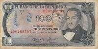 Colombia 100 Pesos Oro 1974 P 415 - See Graffiti - Free to Combine Low Shipping