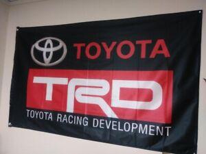 TRD RACING FLAGS 3FT X 5FT CELICA MR2 COROLLA SUPRA TOYOTA TACOMA RAV 4 2000GT