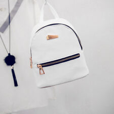 Women Mini Backpack Leather College Hiking Travel Satchel  Rucksack Book Bag