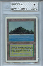 MTG Unlimited Dual Land Tropical Island BGS 7.0 (7) NM Card Magic WOTC 7787