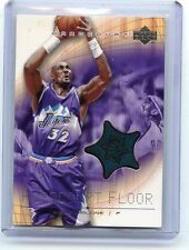"2003-04 U.D. HARDCOURT #KM-F KARL MALONE ""GREEN"" FLOOR RELIC, UTAH JAZZ, 041716"