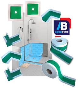 Wet Room System Tape Collar Corner Joint Waterproof Tanking Shower Aqua Build V