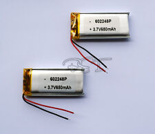 2pcs 3.7V 650 mAh Li-polymer rechargeable Battery Li-Po ion 602248 for  mp3 mp4
