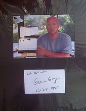 GAVIN BRYARS: English Composer. Genuine signed card from 1995 mounted with photo