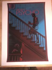 Laurent Durieux Alfred Hitchcock's Psycho Mondo Movie Signed Poster Art Print