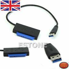 Nuevo Cable Usb 3.0 a SATA 22 Pin 7+15pin Adaptador Conversor de controlador de disco duro HDD