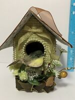 Handcrafted Bird House Pearls Cardboard Birdie House And Nest