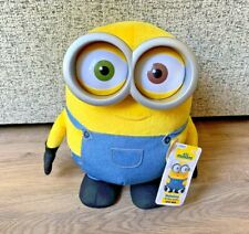 Jumbo Talking Minion BOB Interactive Talking Soft Toy Plush- Thinkway Toys- 15""