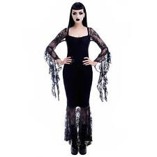 KILLSTAR Witching Hour Maxi Dress Gothic Hexen Kleid Schwarz Lang Spitze Mermaid