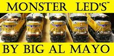 HO WARM WHITE MONSTER LEDs BY AL MAYO BNSF AMTRAK SD70ACU ES40DC UNION PACIFIC